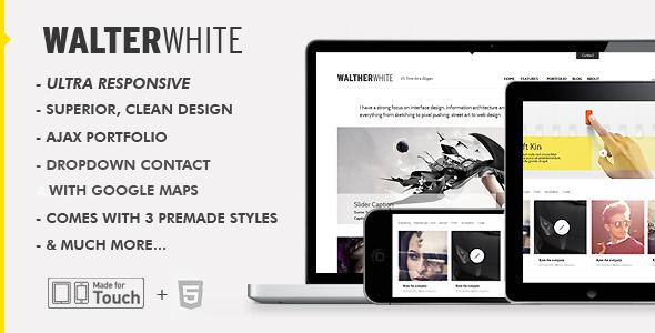 WalterWhite - Superior, responsive HTML 5 Theme