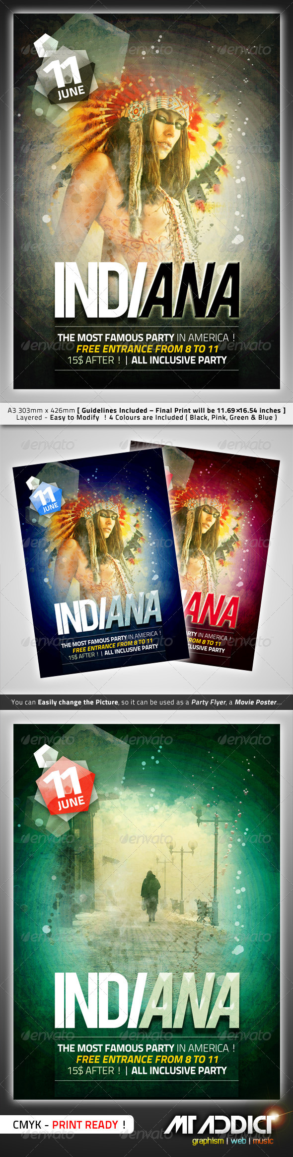GraphicRiver Indiana Flyer 265468