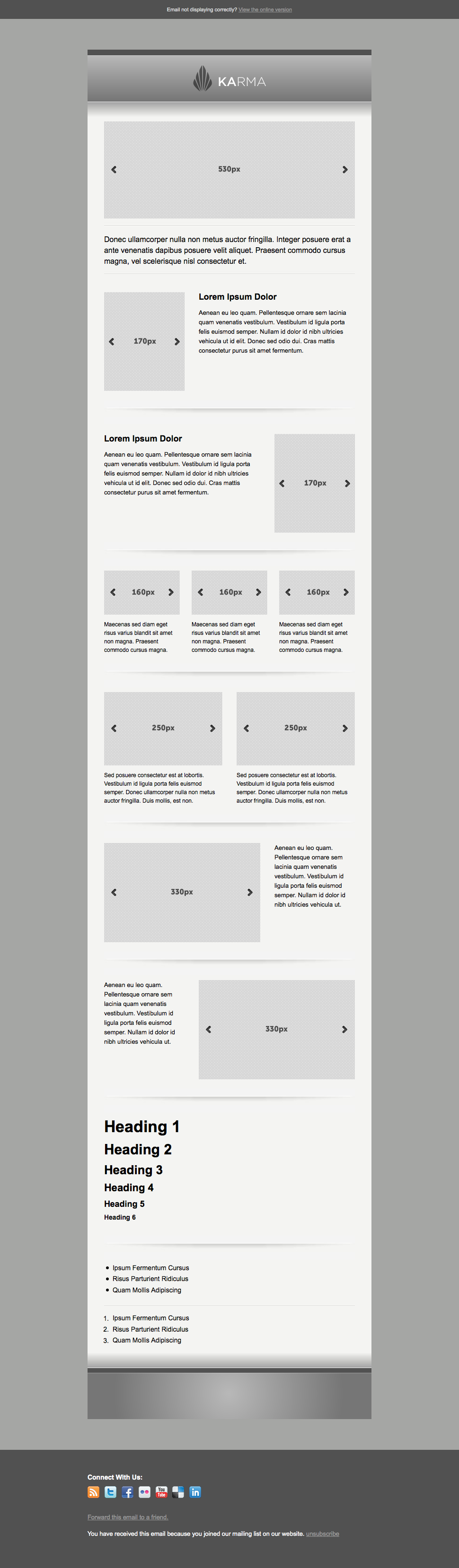 Karma - Clean Modern Corporate Email Template