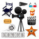 Cinema Movie Icons - GraphicRiver Item for Sale