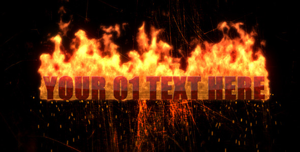 After Effects Project - VideoHive Texts in Fireball 2348890