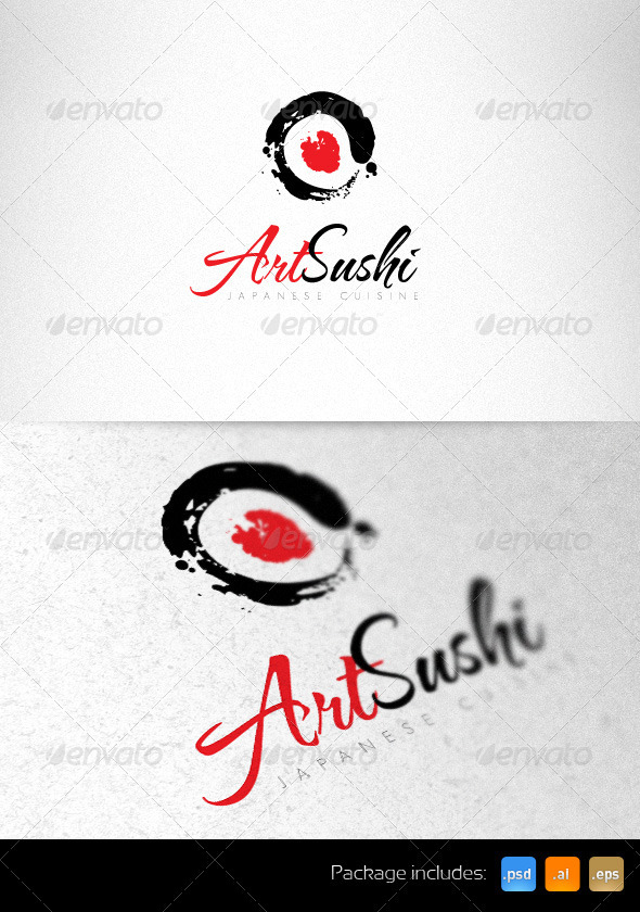 Art Sushi Creative Logo Template - Vector Abstract