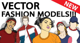 Vector Fashion Model Collection