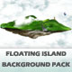 Floating Island Background Pack - GraphicRiver Item for Sale
