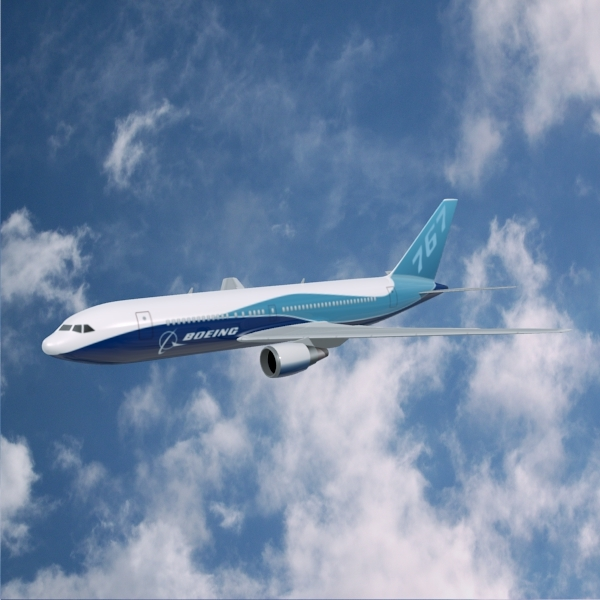 3DOcean Boeing 767-200 commercial aircraft 2351153