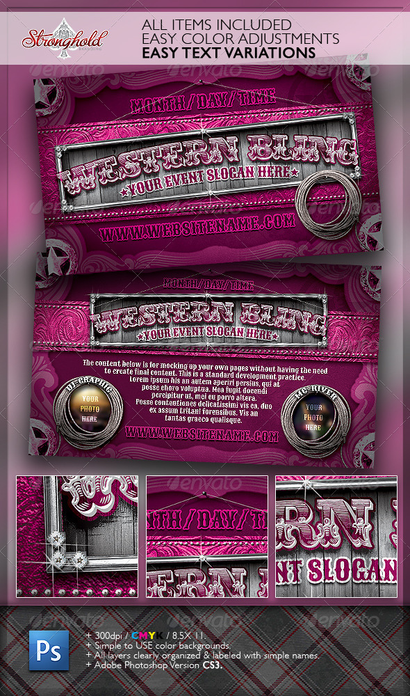 GraphicRiver Western Bling Flyer Template 2334575