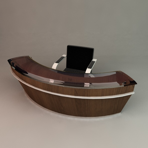Reception Desk - 3DOcean Item for Sale