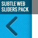 Subtle Web Sliders Pack - GraphicRiver Item for Sale