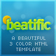 Beatific – Beautiful website template (3 colors)