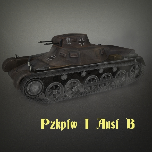 Pzkpf I Ausf B - 3DOcean Item for Sale