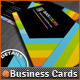Quick Colors Rainbow QR Code Business Cards Design - GraphicRiver Item for Sale