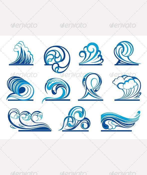 Wave Symbols Graphicriver