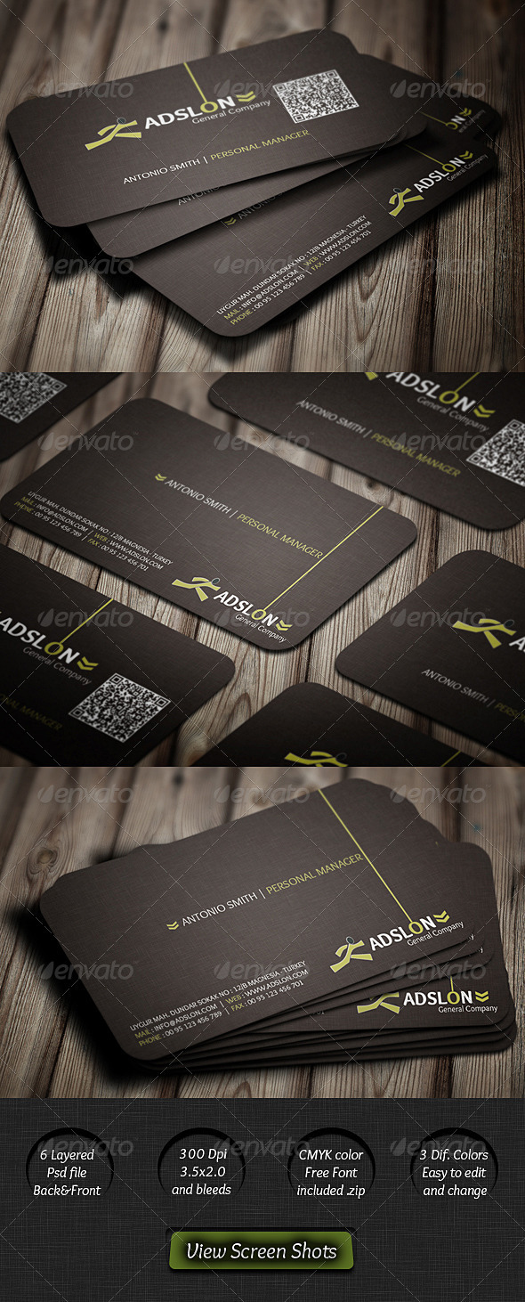 International Corporate Business Card - Corporate Business Cards