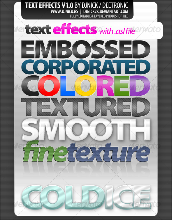 Graphic River photoshop text effects and styles Add-ons -  Photoshop  Styles  Text Effects 84705