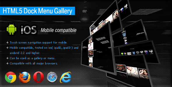 HTML5 Dock Menu Gallery  - CodeCanyon Item for Sale