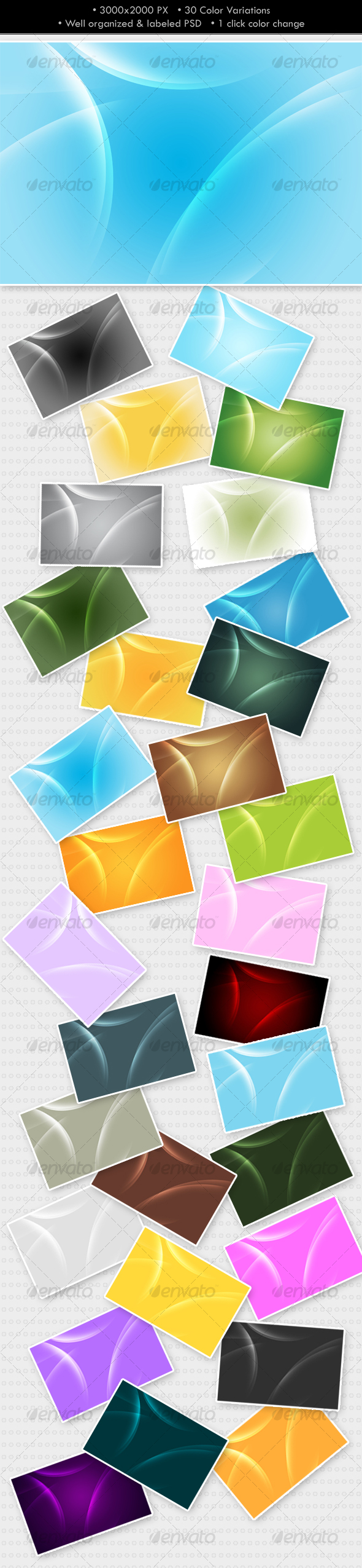 GraphicRiver Glowing Abstract Background 30 colors 79111