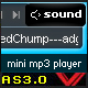 As3 dynamic xml mp3 mini player - ActiveDen Item for Sale