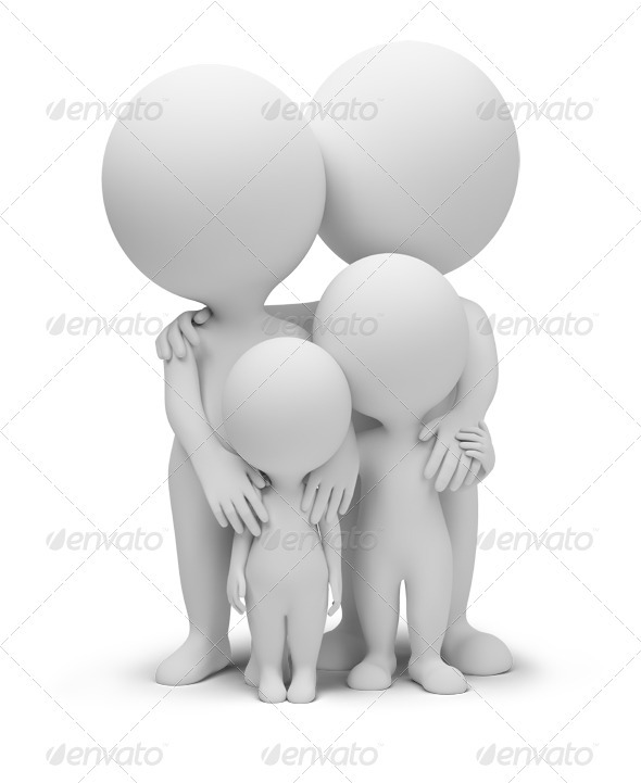 GraphicRiver 3D Small People Family 2354995