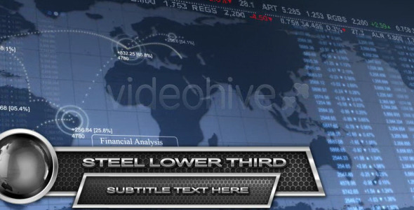 VideoHive Steel Lower Third HD 2342740