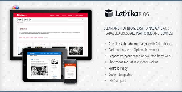 Sofa Lathika - Responsive Blog | Portfolio - Sofa Lathika theme intro (splash) screen.