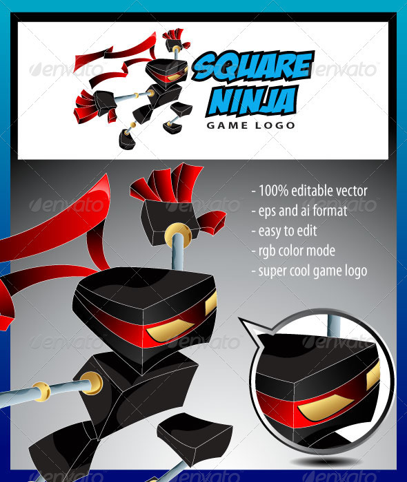 Square Ninja Game Logo