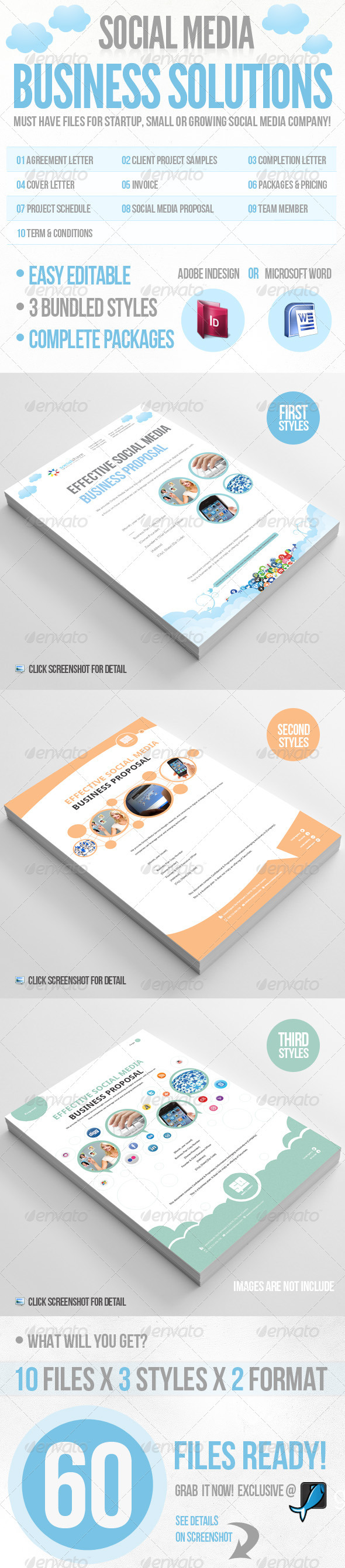 Social Media Business Solution - Proposals & Invoices Stationery