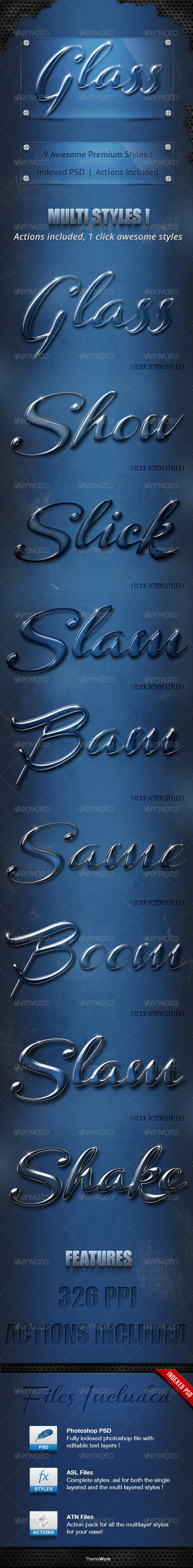 Glass & Crystal Premium Text Styles 2/2 - Text Effects Actions