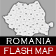 Romania Flash Interactive Map - ActiveDen Item for Sale