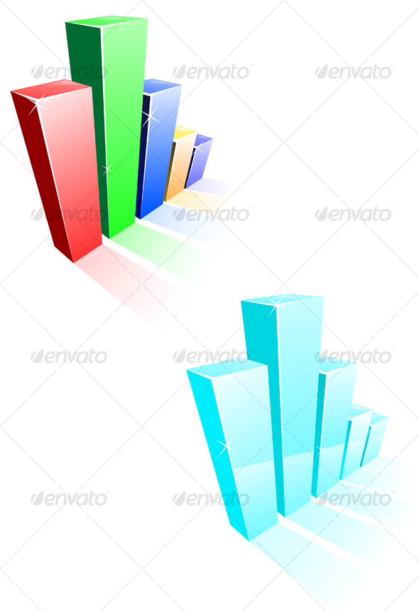 Graphic River Glossy graph for design Vectors -  Conceptual  Business 87172