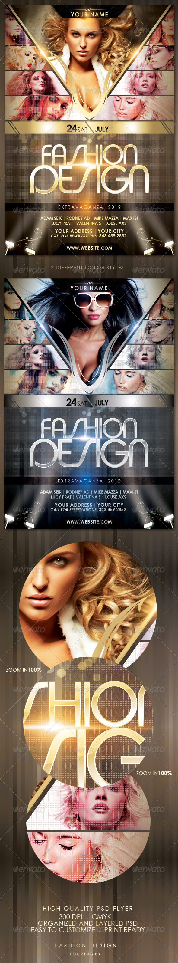 Fashion Design Flyer Template - Flyers Print Templates