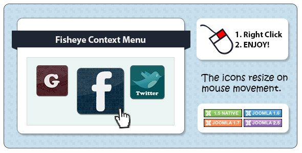 Fisheye Context Menu for Joomla - CodeCanyon Item for Sale