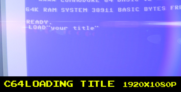 VideoHive c64 Loading Title 2320766