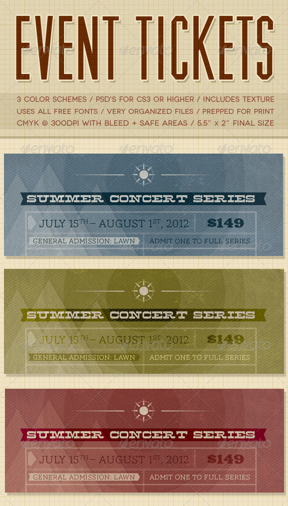 GraphicRiver Event Tickets 2358247