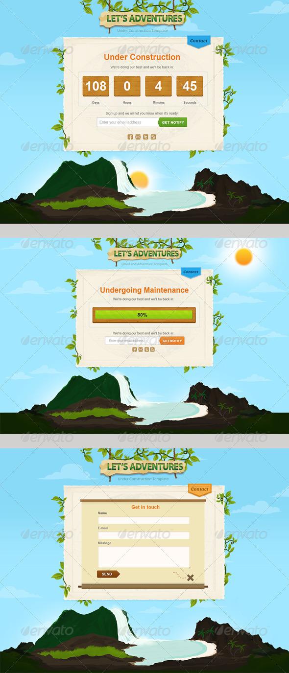 Adventures Construction Page - Miscellaneous Web Elements