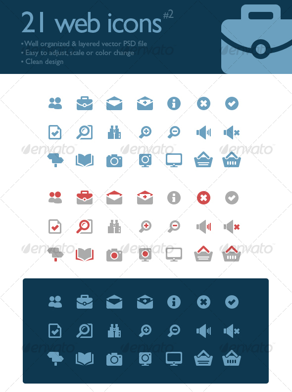 GraphicRiver 21 web icons #2 87190