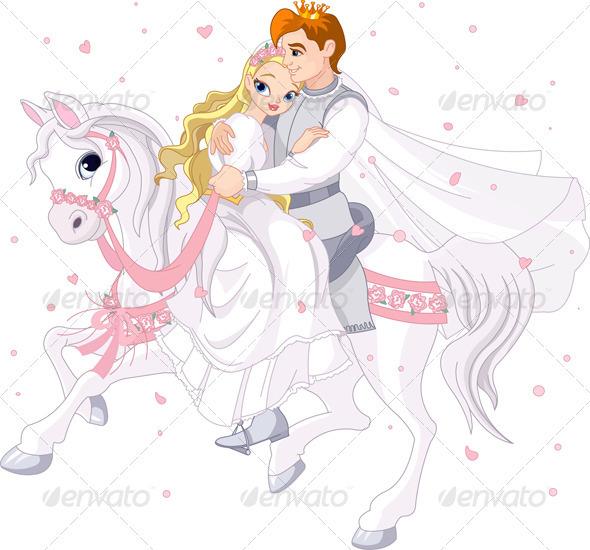 GraphicRiver Romantic Couple on White Horse 2358989