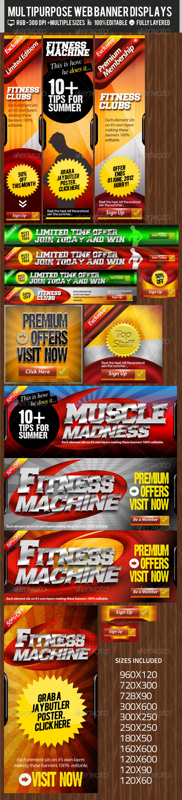 GraphicRiver Multipurpose Web Banner & Ad Kit PSD Templates 2359412