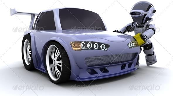 Stock Photo - PhotoDune robot washing a car 2359648