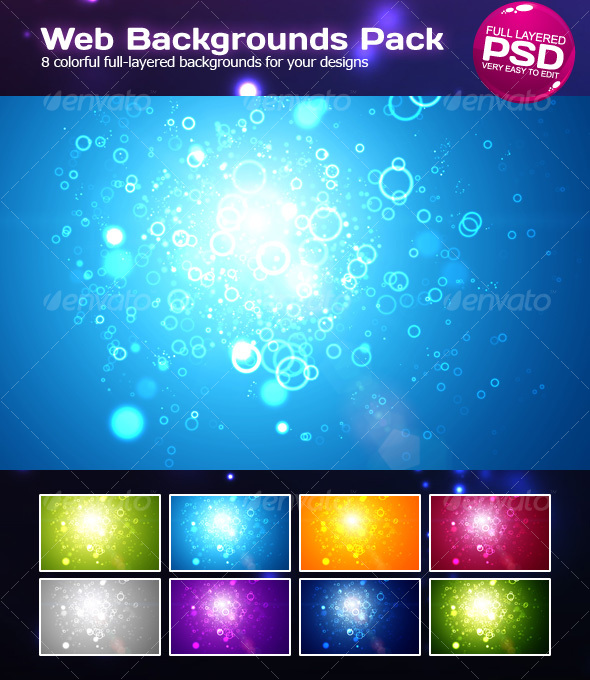 GraphicRiver Web Background Pack 87222