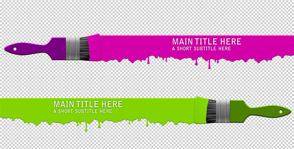 After Effects Project - VideoHive Brush Lower Third 266555