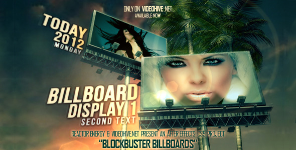 After Effects Project - VideoHive Blockbuster Billboards 2330729