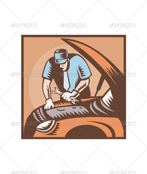 GraphicRiver Automobile Mechanic Car Repair 2360409