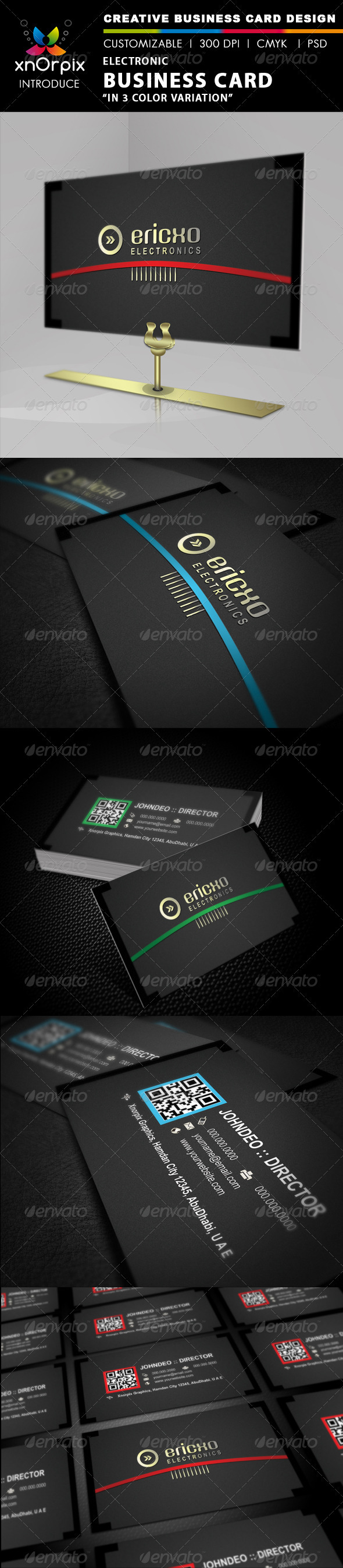 Electro Business Card - Corporate Business Cards