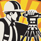 Surveyor Engineer Theodolite Total Station Retro - GraphicRiver Item for Sale