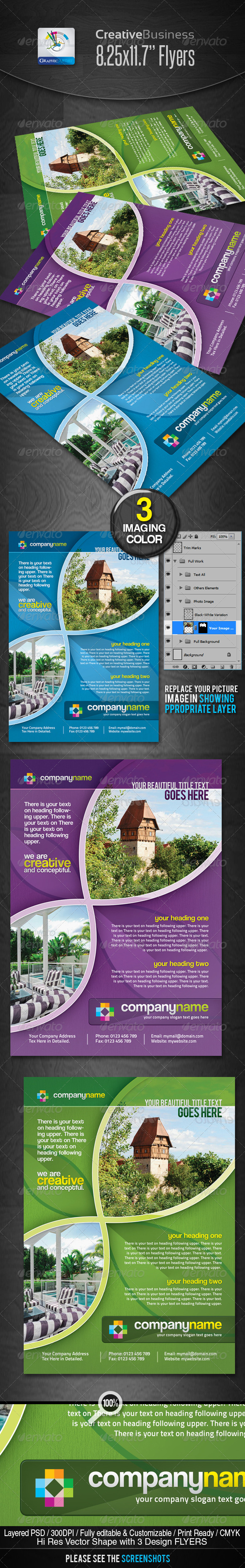 Creative Corporate Business Flyers/Ads - Corporate Flyers