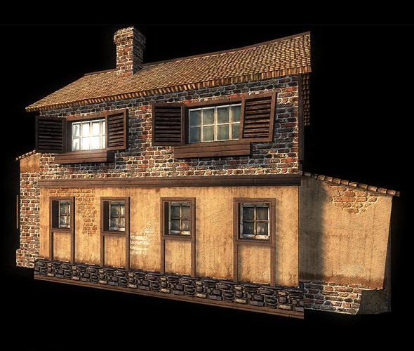 3DOcean WW2 House 87261