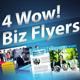 4 Wow Biz Flyers - GraphicRiver Item for Sale