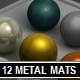 12 Metal Materials - 3DOcean Item for Sale