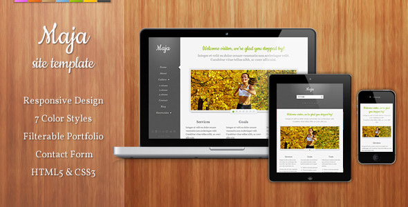 Maja Responsive Site Template