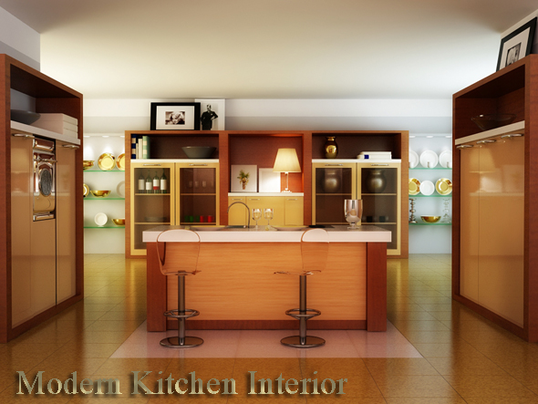 Kitchen interior - 3DOcean Item for Sale